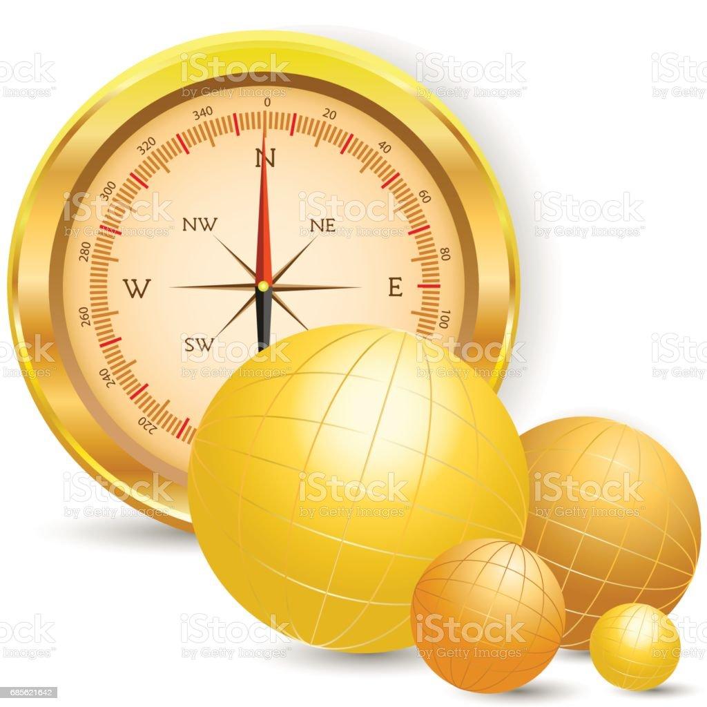 Compass Lizenzfreies compass stock vektor art und mehr bilder von abstrakt