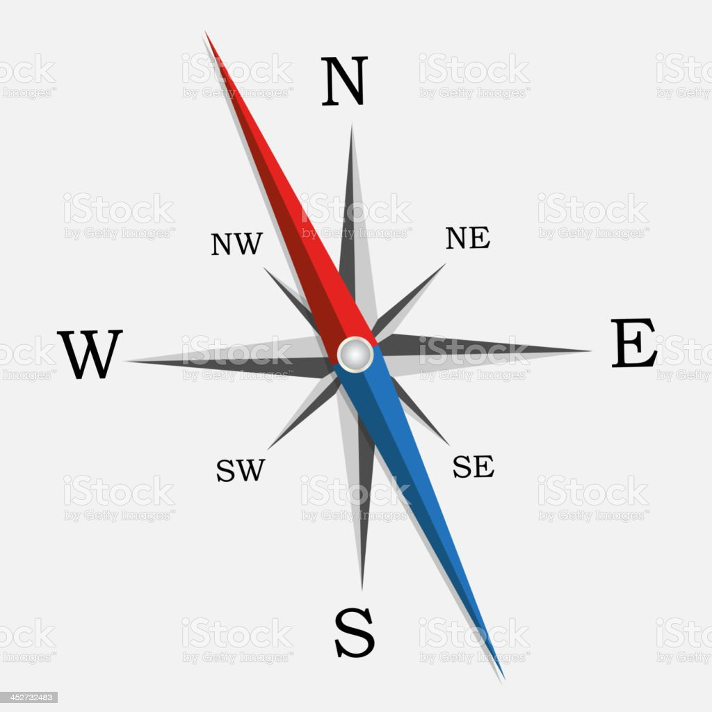 Compass. Vector Illustration. royalty-free stock vector art