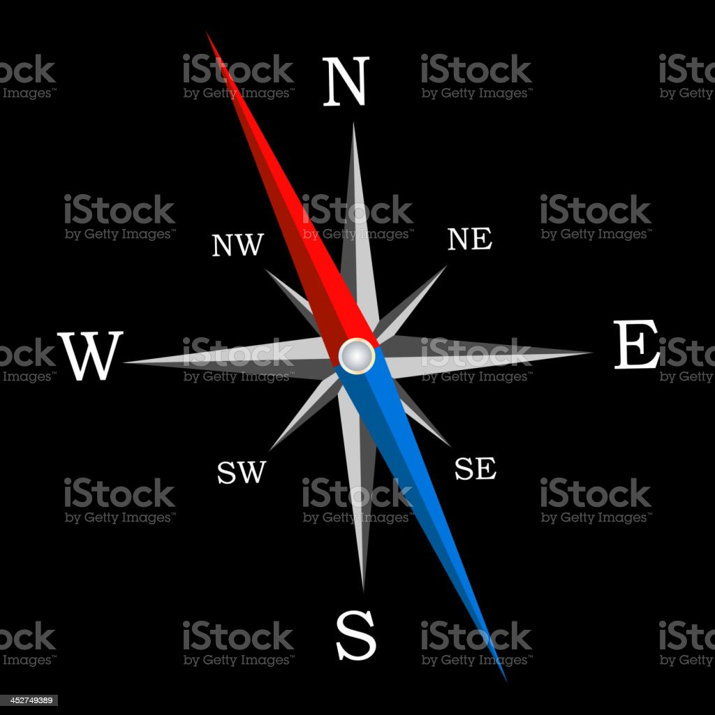Compass. Vector Illustration royalty-free compass vector illustration stock vector art & more images of acute angle