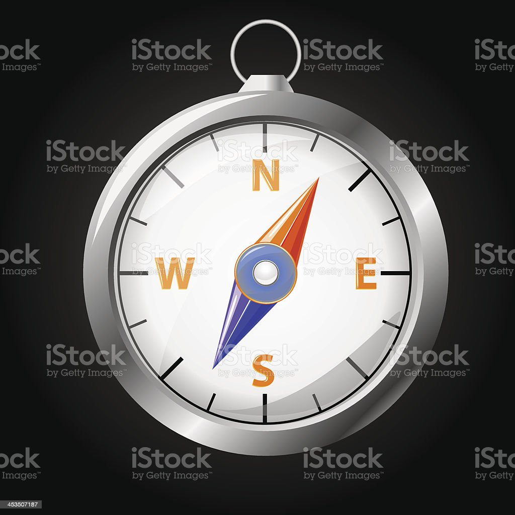 Compass, vector illustration royalty-free stock vector art