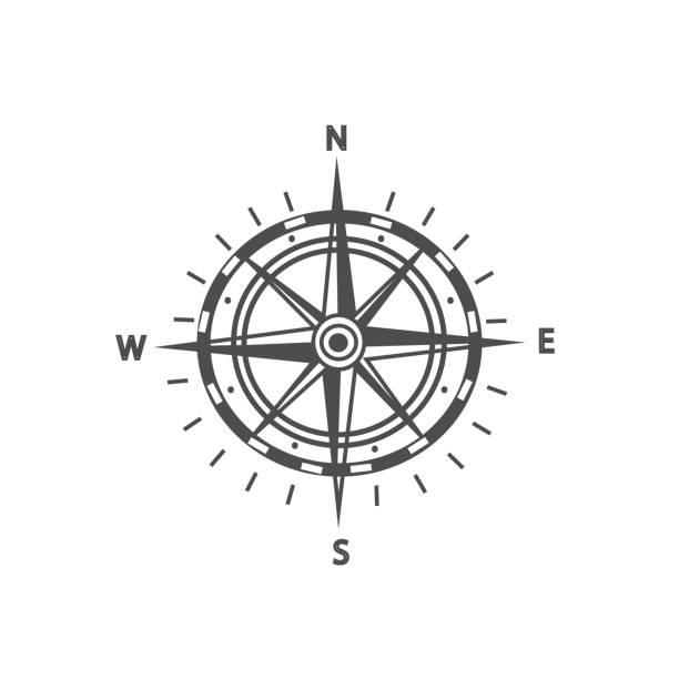 ilustrações de stock, clip art, desenhos animados e ícones de compass. vector - compasso