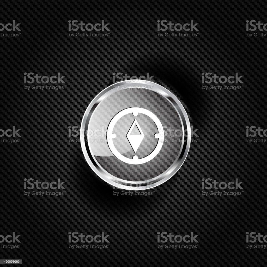 Compass web icon vector art illustration