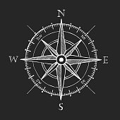 istock Compass wind rose hand drawn vector design element 533252894