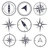 Compass wind rose  vector design element