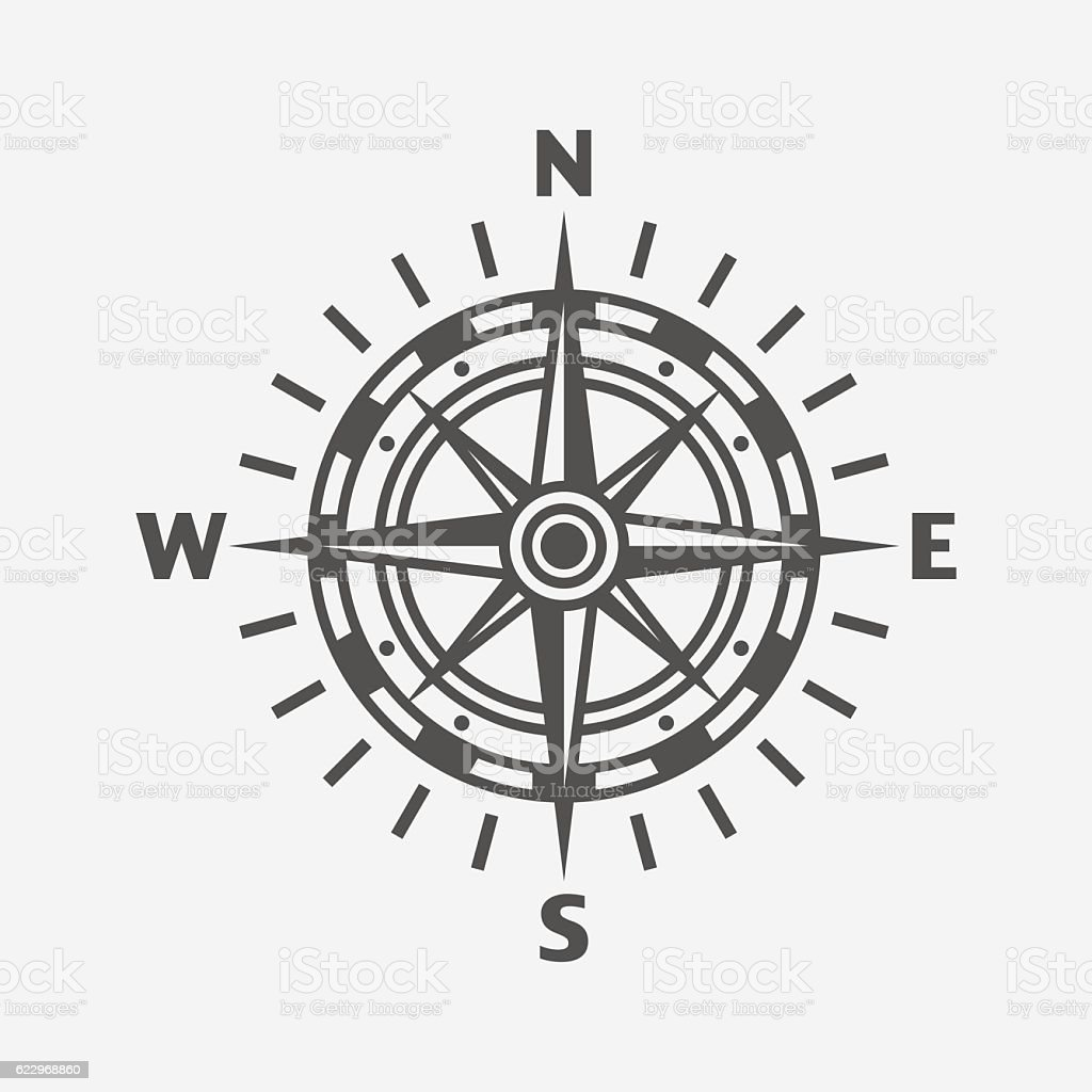 Compass. Wind rose vector art illustration