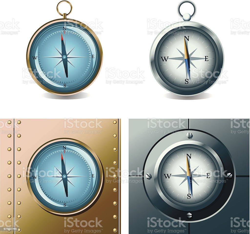 Compasses royalty-free compasses stock vector art & more images of arrow symbol