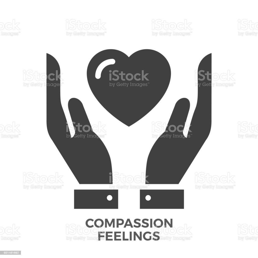 Compassion Feelings Glyph Vector Icon. vector art illustration