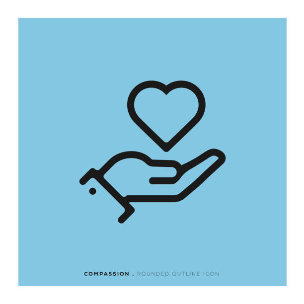 Compassion Rounded Line Icon Compassion Rounded Line Icon comfort stock illustrations