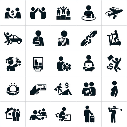 Compensation, Benefits and Perks Icons