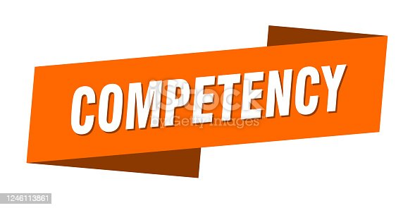 competency banner template. competency ribbon label sign