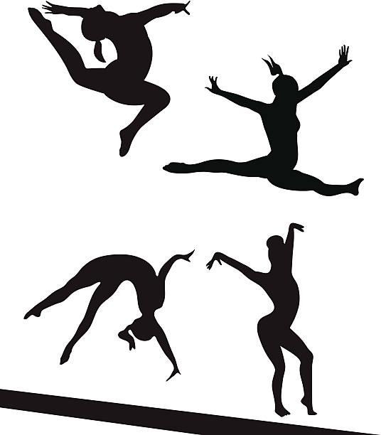 競合 gymnasts - 体操競技点のイラスト素材/クリップアート素材/マンガ素材/アイコン素材