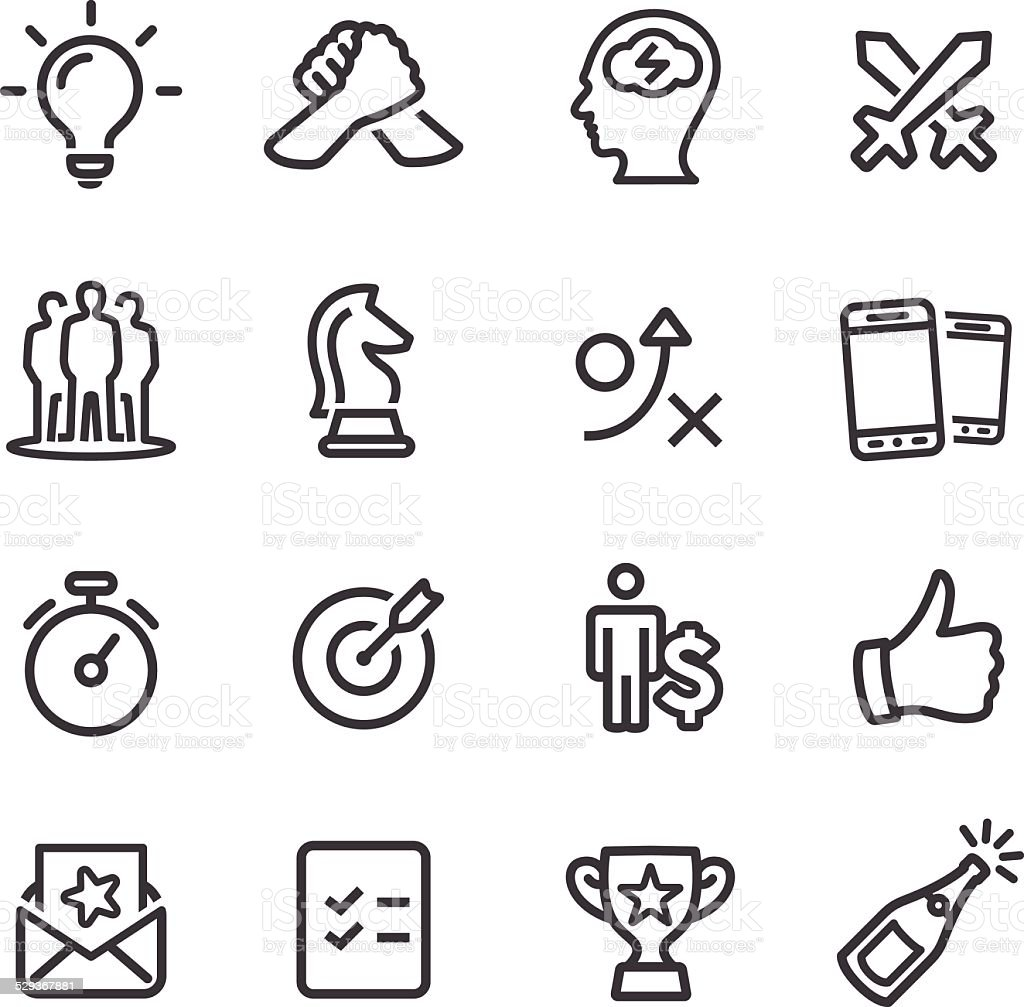 Competition and Match Icons - Line Series vector art illustration
