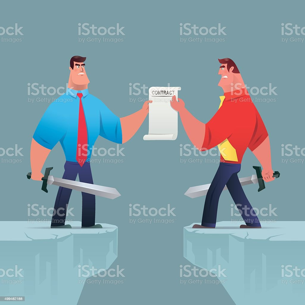 competition for contract vector art illustration