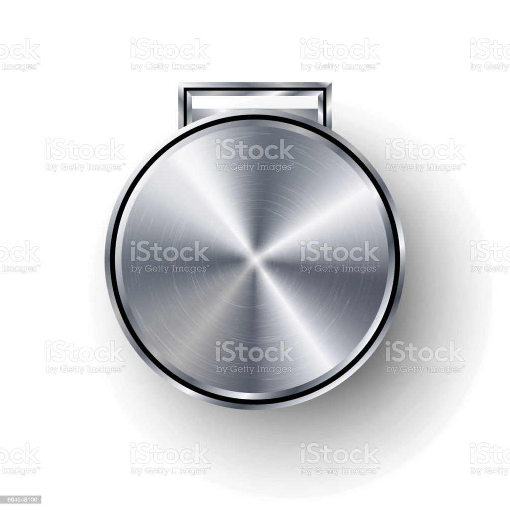 Competition Games Silver Medal Template Vector. Realistic Circle Geometric Badge. Technology Perforated Metal Texture. Chrome, Steel. Sport Ceremony Design Concept Illustration. Silver Button Medal Blank royalty-free competition games silver medal template vector realistic circle geometric badge technology perforated metal texture chrome steel sport ceremony design concept illustration silver button medal blank stock vector art & more images of abstract