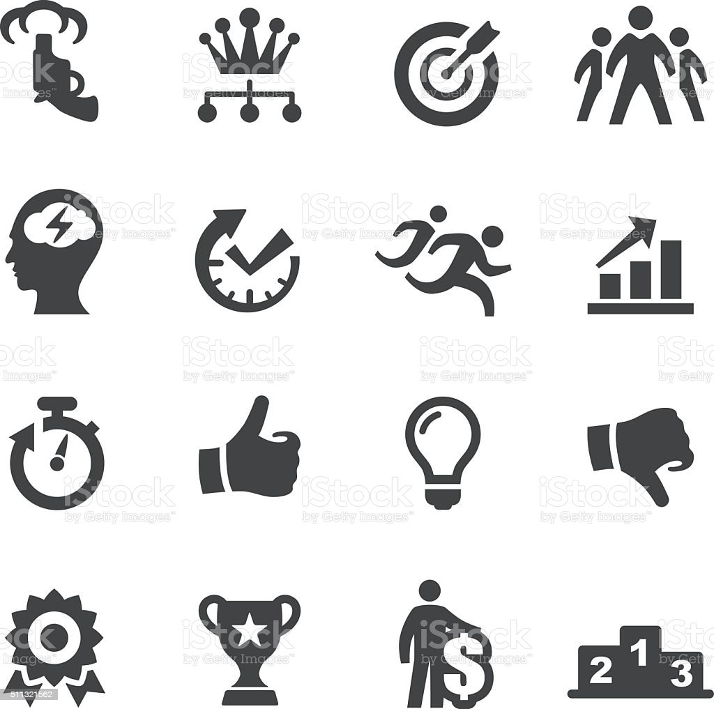 Competition Icons - Acme Series vector art illustration