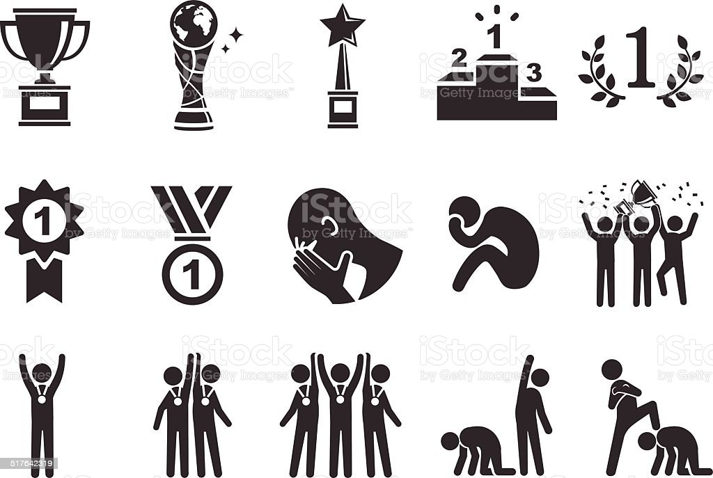 Competition icons - Illustration vector art illustration