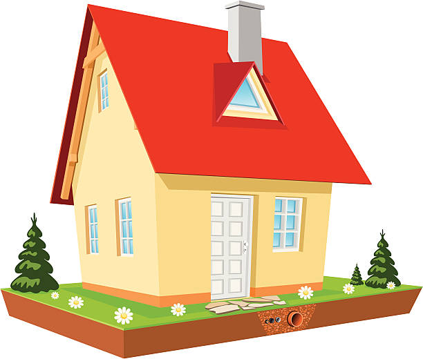 complete house - electrical wiring home stock illustrations, clip art, cartoons, & icons
