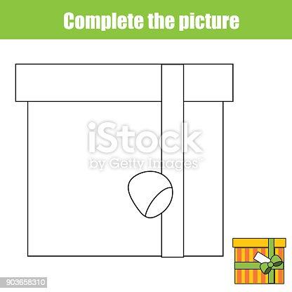 istock Completa el juego educativo niños del cuadro, página para ...