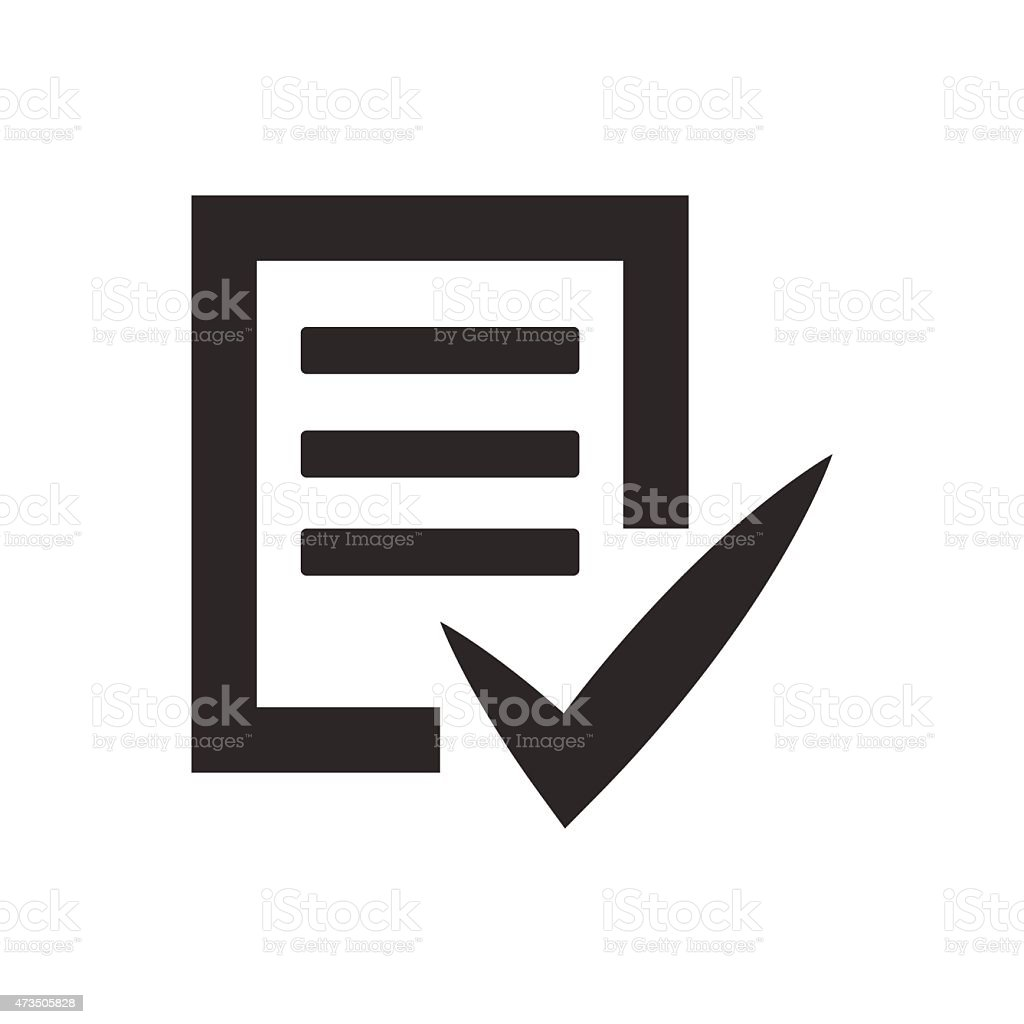 Completed tasks icon vector illustration eps10 on white backgrou vector art illustration