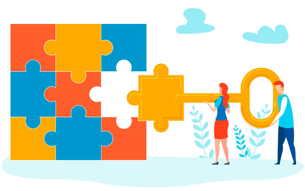 Completing Project Metaphor Vector Illustration