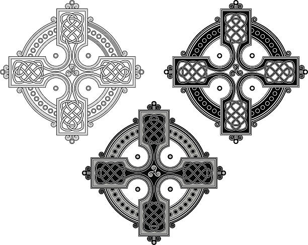 illustrations, cliparts, dessins animés et icônes de croix celtique ornement complexe (nouées les différences n ° 4 - tatouages celtiques