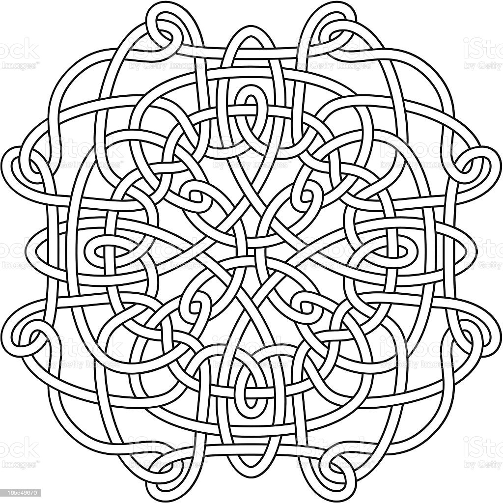 Complex Celtic Knot royalty-free stock vector art