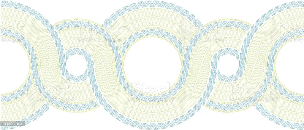 Complex Guilloche Pattern vector art illustration