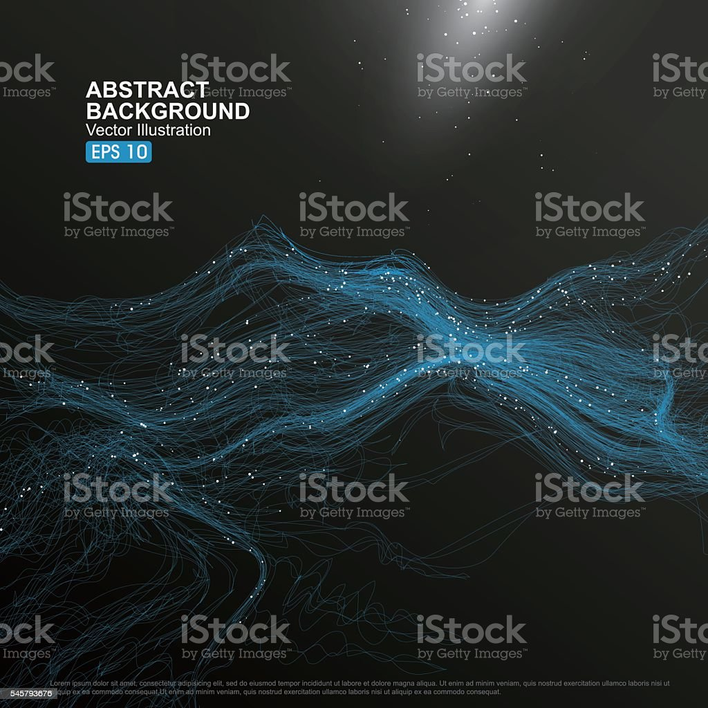 complex lines consisting of Abstract graphic. vector art illustration