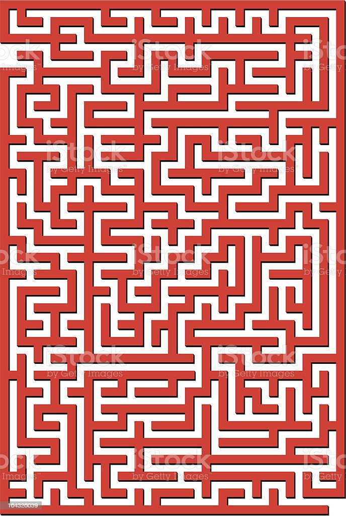 Complex Red maze royalty-free complex red maze stock vector art & more images of backgrounds