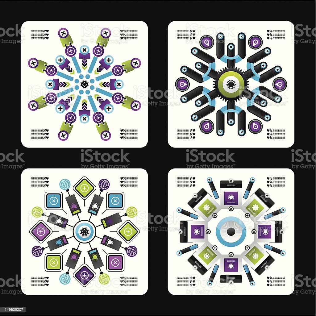 complex web infographics royalty-free stock vector art