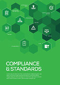 Compliance and Standards. Brochure Template Layout, Cover Design