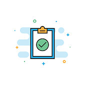 Compliance and Standards Flat Line Icon