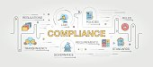 Compliance Design with Line Icons