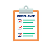 istock Compliance Document List With Check Marks And Clipboard 1131565041