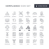 29 Compliance Icons - Editable Stroke - Easy to edit and customize - You can easily customize the stroke with