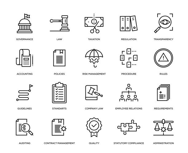 uyum icon set - siyaset stock illustrations