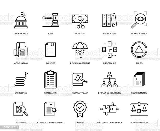 Överensstämmelse Ikonuppsättning-vektorgrafik och fler bilder på Affärsstrategi
