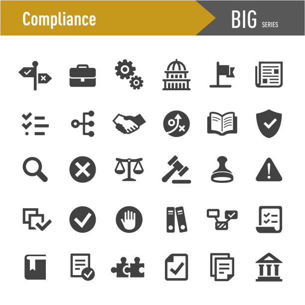 Compliance Icons - Big Series Compliance, changing form stock illustrations