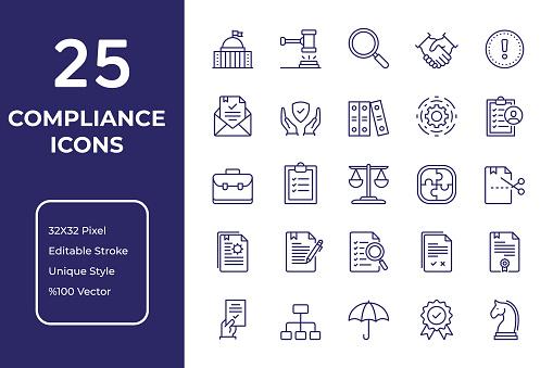 Compliance Line Icon Design