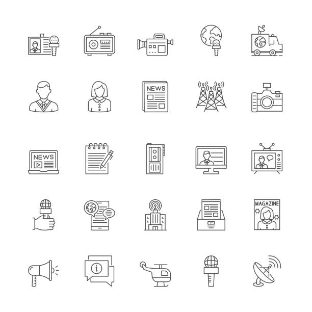 stockillustraties, clipart, cartoons en iconen met pictogramset nalevingsregel - perskamer