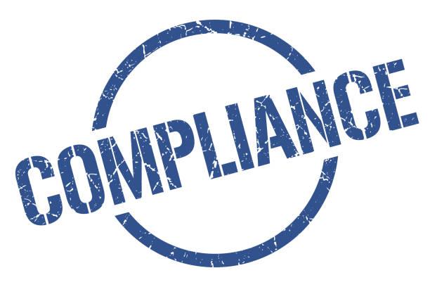 illustrazioni stock, clip art, cartoni animati e icone di tendenza di compliance stamp - uniforme