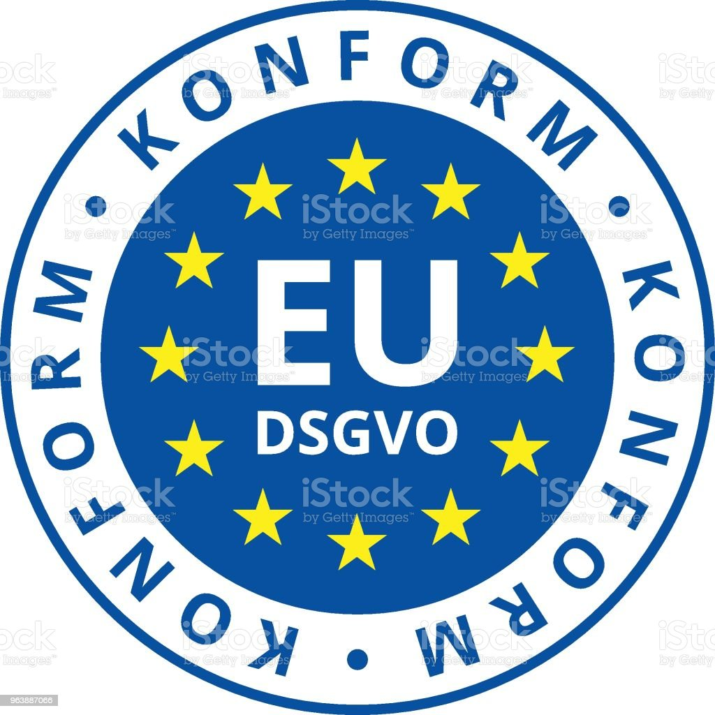 EU-DSGVO Konform illustration - Royalty-free Accessibility stock vector