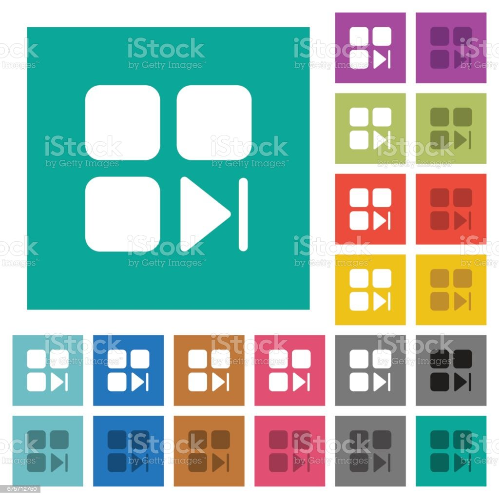Component next square flat multi colored icons 免版稅 component next square flat multi colored icons 向量插圖及更多 一個物體 圖片