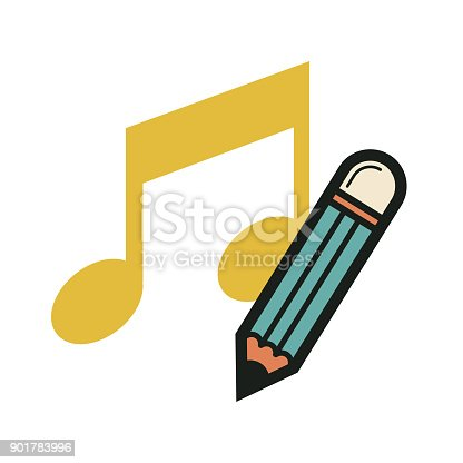 compose a song. eps 10 vector file