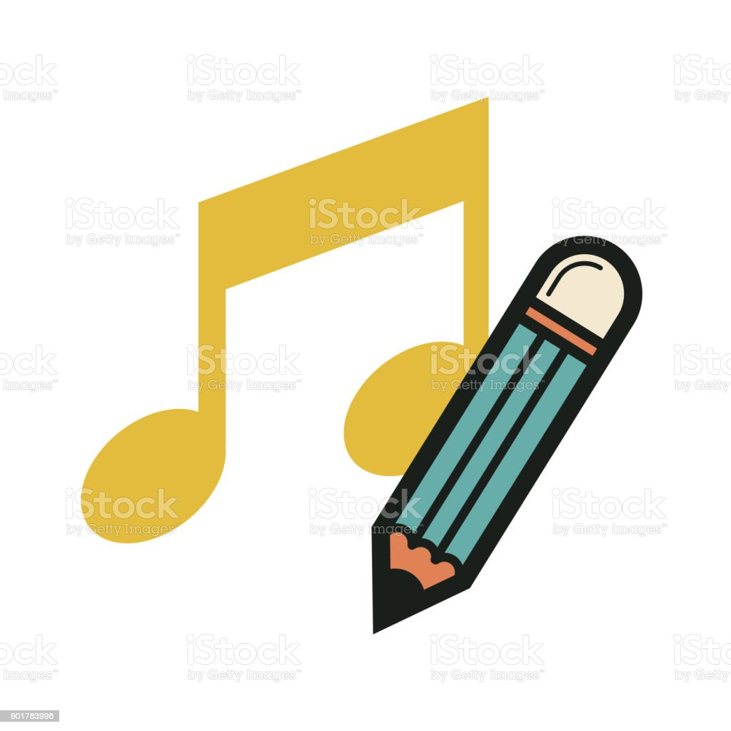 compose a song vector art illustration