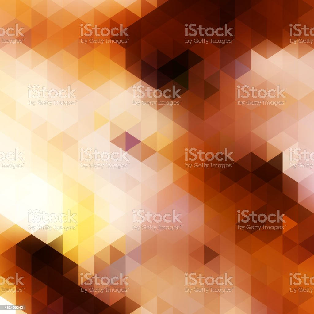 Composed of color bricks, different shades. vector art illustration