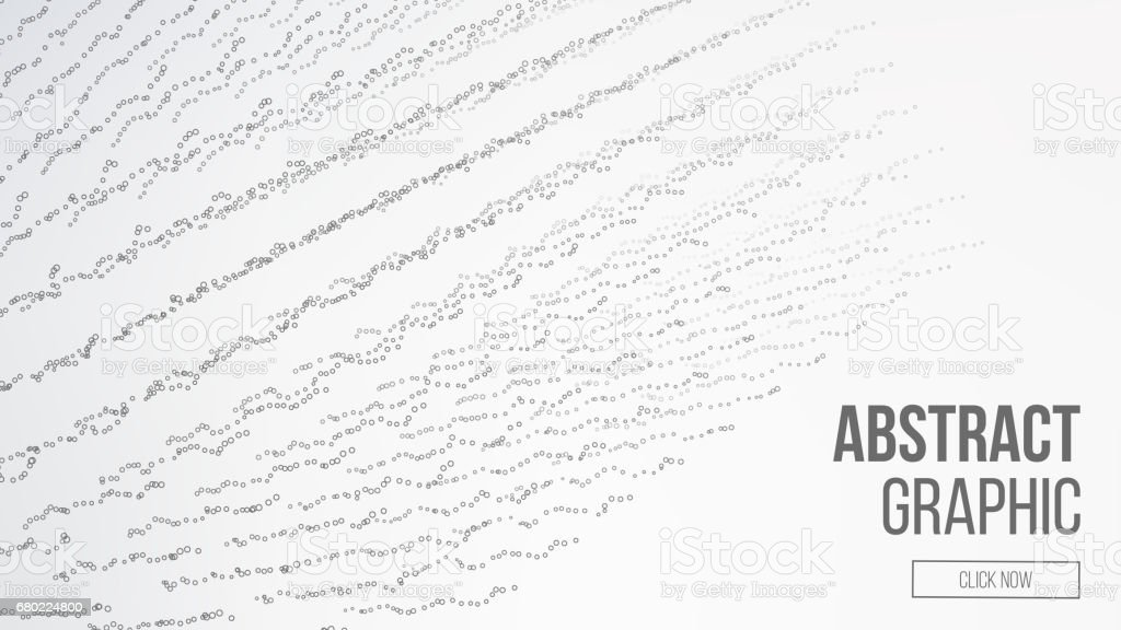 Composed Of Particles. Abstract Graphic Design. Modern Sense Of Science And Technology Background. Vector Illustration. Abstract Dots Background. Flowing Particles Waves vector art illustration