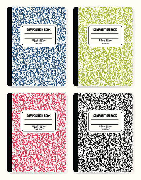 composition books - composition stock illustrations