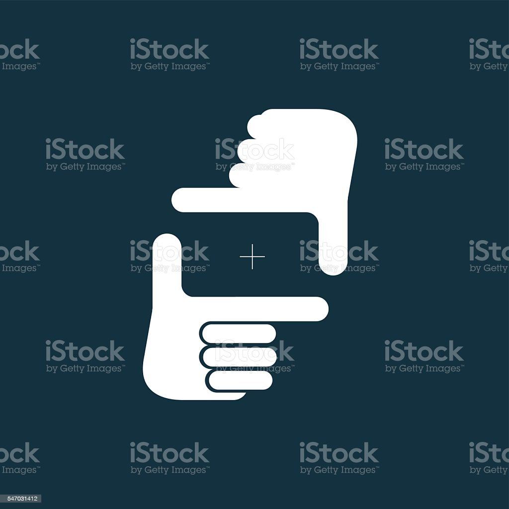 'Composition' gesture icon, vector illustration. vector art illustration