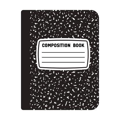 Composition notebook illustration